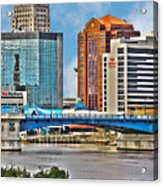 Downtown Toledo Riverfront Acrylic Print