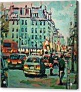 Downtown Traffic Acrylic Print