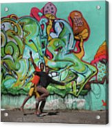Downtown Walkers Acrylic Print
