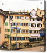 Downtown Zurich Switzerland Acrylic Print