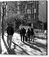 Downtownscape - Black And White Acrylic Print