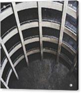 Downward Spiral - Looking Down Parking Garage Acrylic Print