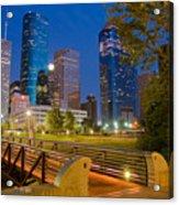 Dowtown Houston By Night Acrylic Print