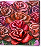 Dozen Roses Acrylic Print