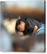 Dozing For As Long As I Can Acrylic Print