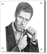 Dr. House  Hugh Laurie Acrylic Print