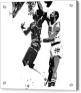 Dr. J And Kareem Acrylic Print by Ferrel Cordle