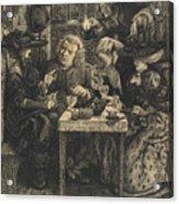 Dr Johnson At The Mitre Acrylic Print