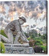Dr. Kenneth Fox Sculpture Oldtown Auburn Acrylic Print