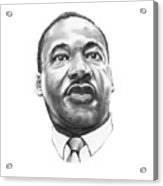 Dr. Martin Luther King Acrylic Print by Murphy Elliott