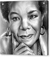 Dr Maya Angelou Acrylic Print