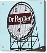 Dr Pepper Landmark Sign Roanoke Virginia Acrylic Print