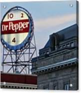 Dr Pepper Sign Acrylic Print