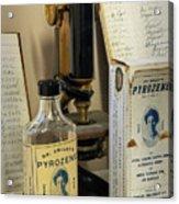 Dr Smileys Mouthwash Acrylic Print by Fred Lassmann