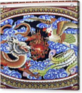 Dragon And Bird Acrylic Print