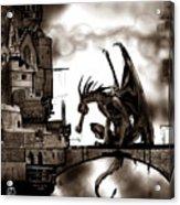 Dragon And Castle Acrylic Print