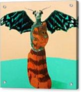 Dragon And Cat Acrylic Print