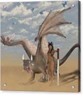 Dragon And Master Acrylic Print