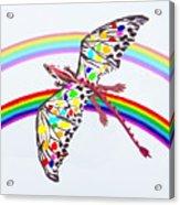 Dragon And Rainbow Acrylic Print