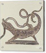 Dragon And Serpent Weather Vane Acrylic Print