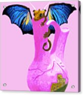 Dragon And Vase Acrylic Print