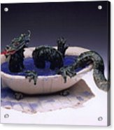 Dragon Bath Acrylic Print