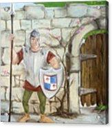 Dragon Behind The Castle Wall Acrylic Print