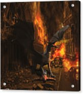 Dragon Flame Acrylic Print by Solomon Barroa
