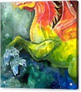 Dragon Horse Acrylic Print