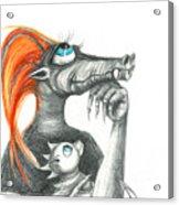 Dragon Mom Acrylic Print