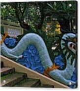 Bao Tang Temple Railing In Ho Chi Minh City Acrylic Print