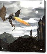Dragon Scenery - 3d Render Acrylic Print