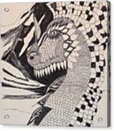 Dragon - Zentangle 16-04 Acrylic Print