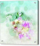 Dragonfly And Polka Dots Acrylic Print