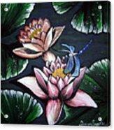 Dragonfly Pond Acrylic Print