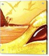 Dragons Of Volcano Island Acrylic Print