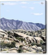 Dragoon Mountains Panorama Acrylic Print