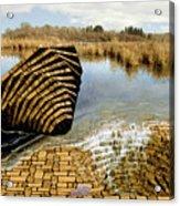 Drain - Mendon Ponds Acrylic Print