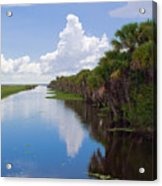 Drainage Canals Make Farming Possible In Florida Acrylic Print