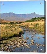 Drakensberg Amphitheatre Mountain Range In Kwazulu Natal, South Africa Acrylic Print