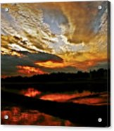 Drama In The Sky At The Sunset Hour Acrylic Print