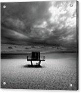 Dramatic Beach Acrylic Print by Marc Huebner