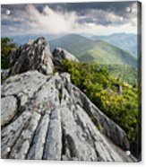 Dramatic Blue Ridge Mountain Scenic Acrylic Print