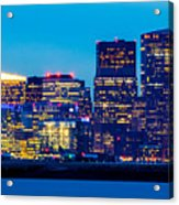 Dramatic Boston Skyline  Acrylic Print