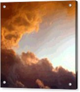 Dramatic Cloud Painting Acrylic Print