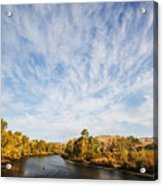 Dramatic Clouds Over Boise River In Boise Idaho Acrylic Print