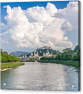 Dramatic Clouds Over Salzburg Acrylic Print