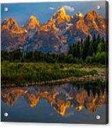 Dramatic Grand Teton Sunrise Acrylic Print