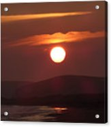 Crimson Ocean Sunset Acrylic Print