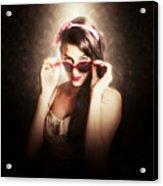Dramatic Pin Up Fashion Photograph Acrylic Print